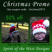Christmas Promotion 50% off Holly Jolly Hat or Poinsettia Stocking Hat