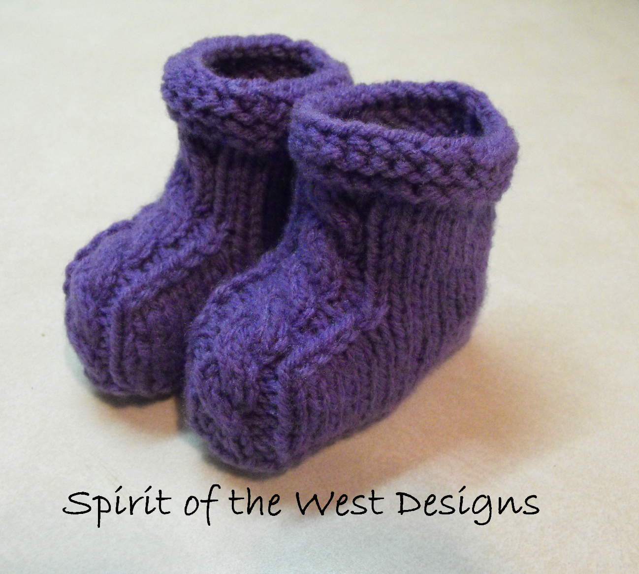 Quick and Easy Cable Baby Booties